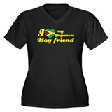 Guyanese boy friend Women's Plus Size V-Neck Dark