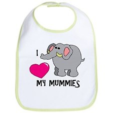 I Love My Mummies Elephant Bib
