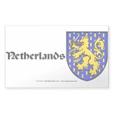 Netherlands: Heraldic Sticker (Rect.) (design 2)