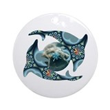 Dolphins at Dione Ornament (Round)
