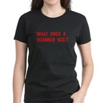 What does a scanner see? Women's Dark T-Shirt