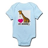 I Love My Mummies Giraffe Infant Bodysuit