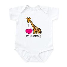 I Love My Mummies Giraffe Onesie