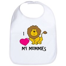 I Love My Mummies Lion Bib