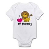 I Love My Mummies Lion Infant Bodysuit
