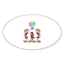 Yummy Mommies Boy Oval Decal
