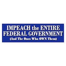 Impeach Gov & Banksters Bumper Bumper Sticker