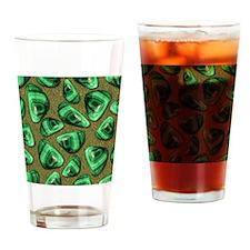 Green Piece Drinking Glass