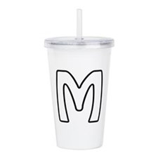 Outline Monogram M Acrylic Double-wall Tumbler