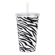 Zebra Animal Print Acrylic Double-wall Tumbler
