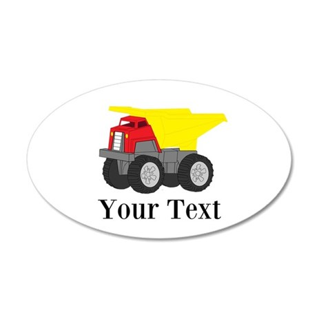 Personalizable Dump Truck Wall Decal