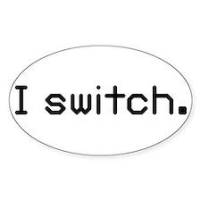 I switch Oval Sticker