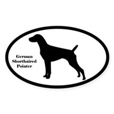 German Shorthaired Pointer Oval Silhouette Decal