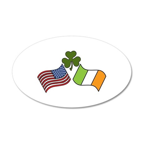 American Irish Flag Wall Decal