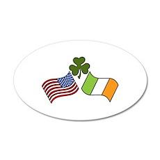 American Irish Flag Wall Decal
