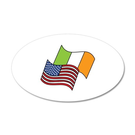 Irish American Flag Wall Decal