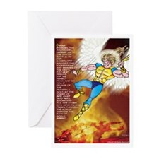 Prayer of ST. Michael Greeting Cards (Pk of 10