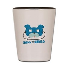 Snips And Snails Shot Glass