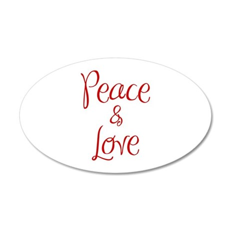 peace-and-love-ma-red Wall Decal