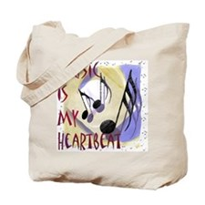 Music is My Heartbeat Tote Bag