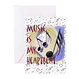 Music is My Heartbeat Greeting Cards (Pk of 10