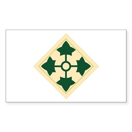 4th Infantry Division Rectangle Sticker