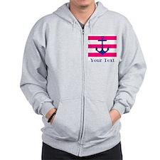 Personalizable Anchor Zip Hoodie
