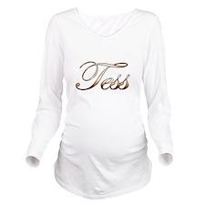 Gold Tess Long Sleeve Maternity T-Shirt