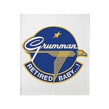 Grumman Retired Baby ! Throw Blanket