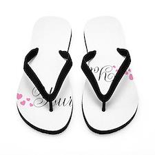 Personalizable Pink Hearts Flip Flops