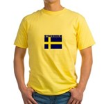 Stockholm, Sweden Yellow T-Shirt