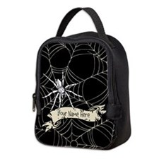 Personalized Spider Web Neoprene Lunch Bag