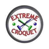 Extreme Croquet Wall Clock