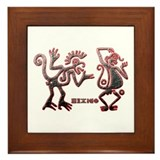 Cute Mexican dancer Framed Tile