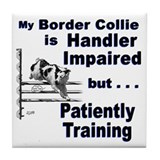 Border Collie Agility Tile Coaster