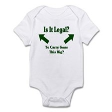 Is it legal to carry guns thi Infant Bodysuit