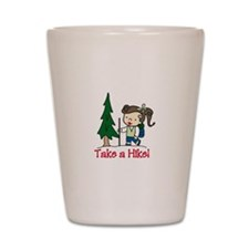Take a Hike Shot Glass