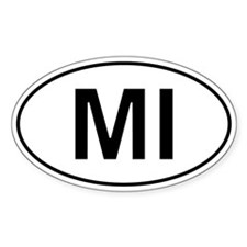 Mi - Michigan Oval Car Decal