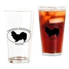 TIBETAN SPANIELS RULE Drinking Glass