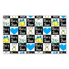 MAID OF HONOR LOVE Decal