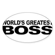 World's Greatest Boss Sticker (Oval 50 pk)