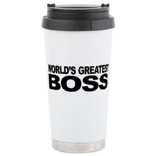 World's Greatest Boss Stainless Steel Travel Mug
