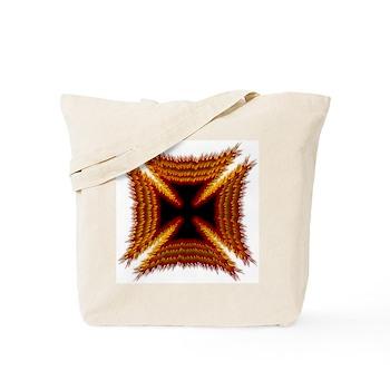 Red Phoenix Biker Cross Tote Bag