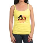 Patriotic Peace Sign Jr. Spaghetti Tank Top