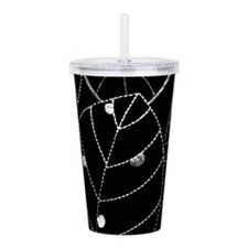 Embroidered Leaf Acrylic Double-wall Tumbler