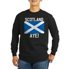 Scotland Aye Dark FB Long Sleeve T-Shirt
