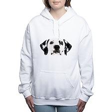 Dalmatian Face Women's Hooded Sweatshirt
