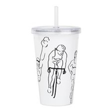Triathlon Woman Acrylic Double-wall Tumbler