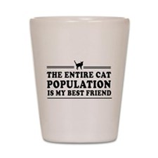 Funny Cat animals Shot Glass