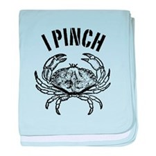 Crab I pinch baby blanket